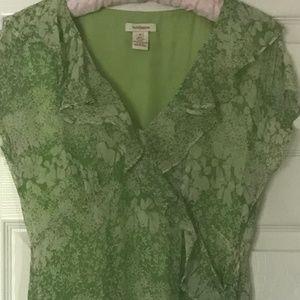 Exquisite Green Silk Chiffon SUNDANCE Dress